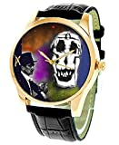 FANTASTIC SALVADORE DALI EROTIC SURREAL SKULL ART COLLECTIBLE 40 mm SOLID BRASS WRIST WATCH