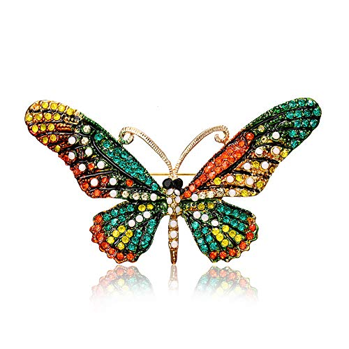 Chili Jewelry Multicolor Vintage Butterfly Brooch Pin Women Decoration Corsages Scarf Clips Brooches ()