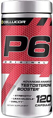 Cellucor P6 Original Testosterone Booster For Men, Build Advanced Anabolic Strength Lean Muscle, Boost Energy Performance, Increase Virility Support, 120 Capsules