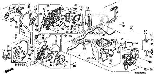 Latch Assembly - Genuine Honda 72610-SHJ-A22 Right Slide Door (Power) Latch Assembly
