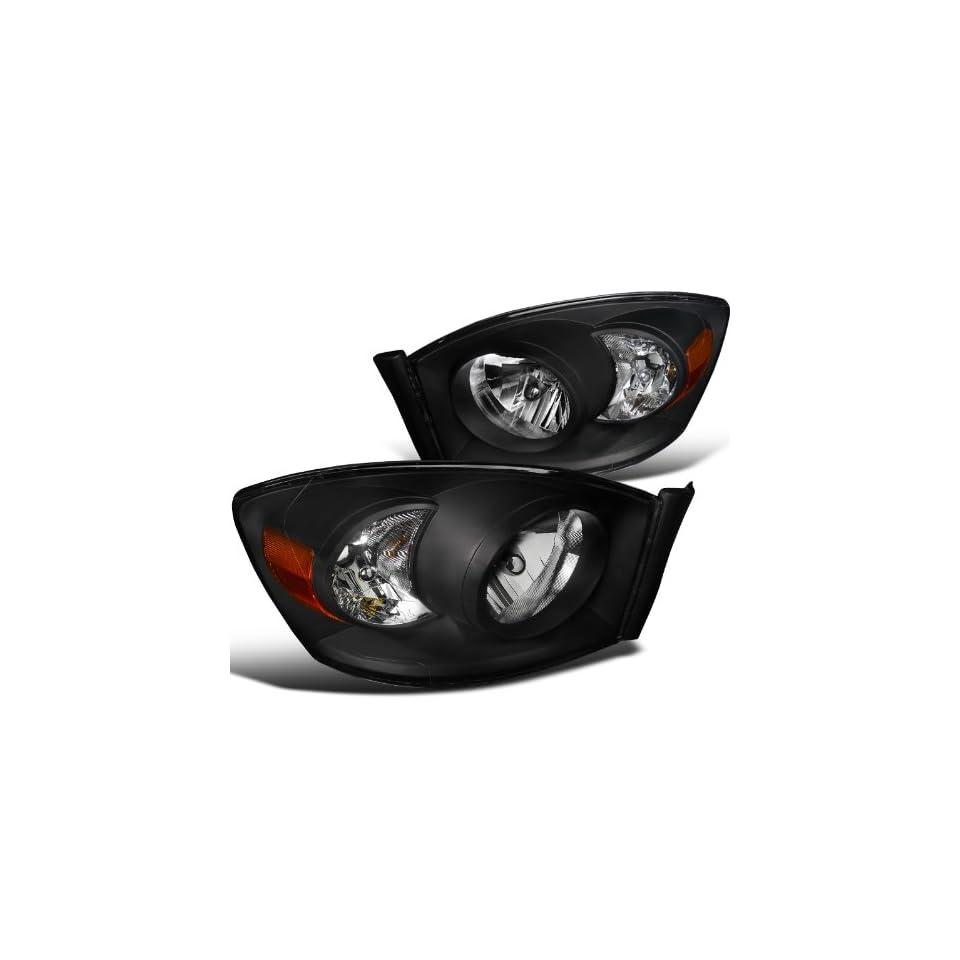 Dodge Ram Pickup Black Diamond Headlights Without Amber Bar Automotive