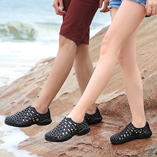 Mens 3 Aqua Waterproof Barefoot Sports 11 Outdoor Swimming Black Couple Pool Black Sandals Beach Breathable Womens Walking Shoes Grey Water Summer AwgS5