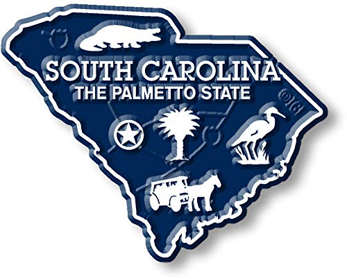 (South Carolina State Map Magnet)