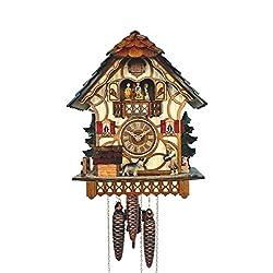 Anton Schneider Cuckoo Clock Black Forest house with moving dog