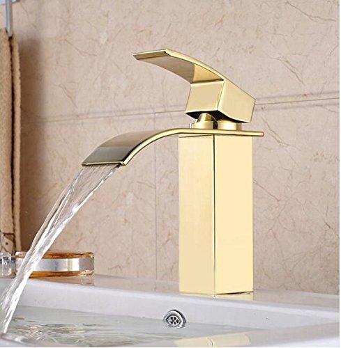 Makej Messing Modernes Bad Armatur Wasserfall Auswurfkrümmer Küche Wasserhahn Einzigen Griff Badezimmer Waschbecken Mischbatterie