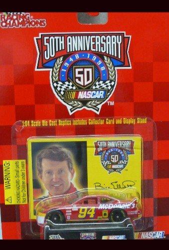 (Racing Champions - NASCAR - 50th Anniversary - 1999 - Bill Elliott -No. 94 McDonald's Ford Taurus - 1:64 Die Cast Replica Car and Collector Card)