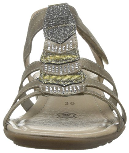 a Oro Chiusura Donna R3637 T Oro Sandali con silver Gold Remonte Ywt0axIq0
