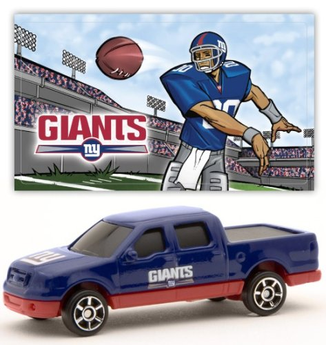 New York Giants 2007 Upper Deck Collectibles NFL Ford F-150 Pickup Truck with Sticker