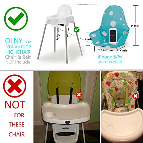 51oUsqMlQqL - IKEA Antilop Highchair Seat Covers & Cushion By AT, Washable Foldable Baby Highchair Cover IKEA Childs Chair Insert Mat Cushion,ONLY For IKEA ANTILOP HIGHCHAIR (Blue)