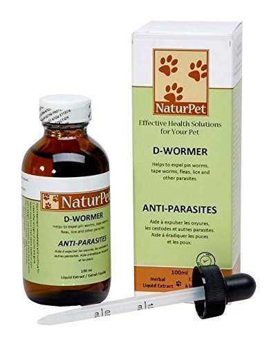 Naturpet D-Wormer - Vermifuge - 3.38 oz - Natural Herbal Extract Blend - Pets
