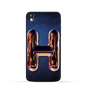 HTC Desire 816 TPU Silicone Case with Chrome Night Letter H Design