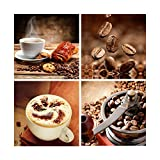 Yang Hong Yu - Canvas Prints Warm Coffee Photos on Canvas Wall Art Stretched and Framed Modern Decor Paintings Giclee Artwork for Dinning Room Decoration Coffee Berry 12x12inch