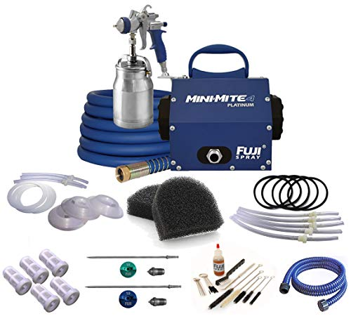 - Fuji Mini-Mite 4 Platinum T70 HVLP Spray System with Bottom Feed Cup & Turbine Filters Accessory Bundle