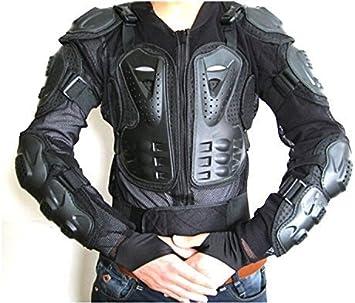 ba-002/ Motocross Moto Motorcyle Chaqueta Impermeable de protecci/ón Body Armour monta/ña Ciclismo equitaci/ón Patinaje Snowboard Pista Crash Guardia CE Aprobado/ /Negro