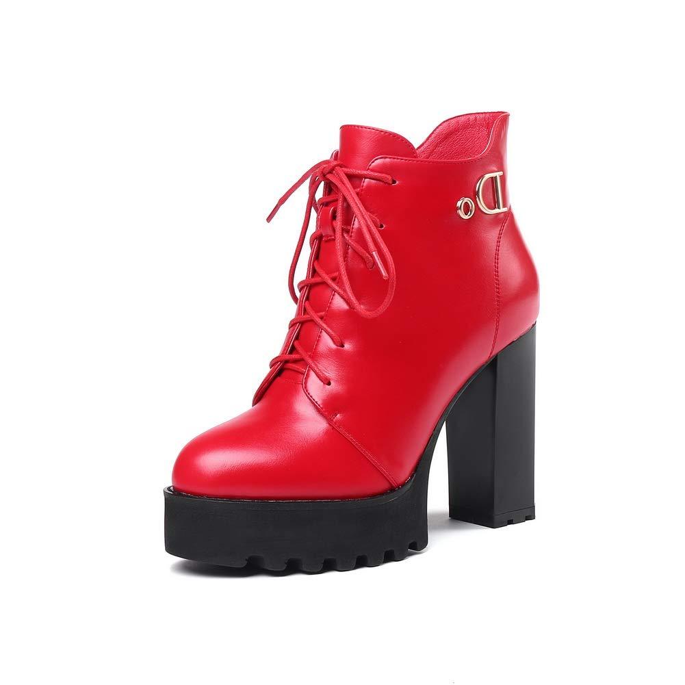 AN DKU02674 Damen Plateau Rot - rot - Größe  36
