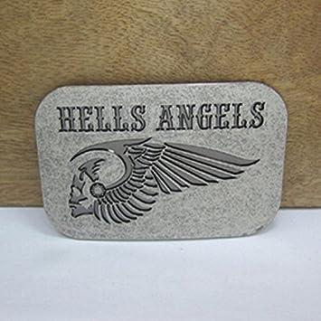 Nouveaux Hells Angels MC moto boucle de ceinture avec Rectangle Argent  cowboy métallique tête de ceinture 6daf4a35175