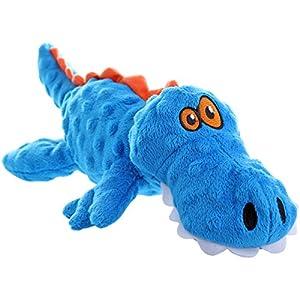 goDog Gators With Chew Guard Technology Tough Plush Dog Toy, Blue, Large 99