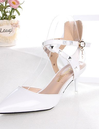 Shoes Pointed Wedding Heels Stiletto Red Career White amp; Toe Heel ShangYi Leatherette Women's Heels Casual Office Red aY5wAnqz