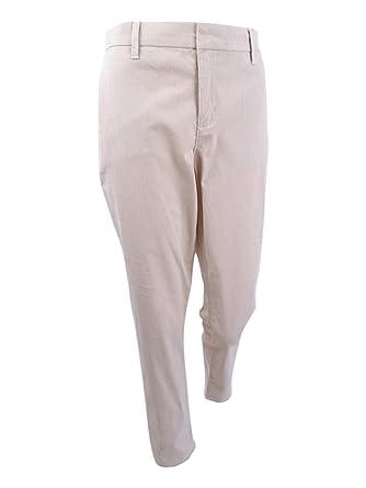 f4fe19fd7 Tommy Hilfiger Womens Hampton Striped Slim Chino Pants Tan 8 at Amazon  Women's Clothing store: