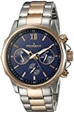 Peugeot Men's 1046TBL Stainless Steel Two-Tone Rose Gold Multi-Function Calendar Analog Display Quartz Watch