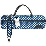 ボーモント フルート・ケースカバー(キャリーバッグ) C管用 カラー&デザイン:ブルー・ポルカ・ドット