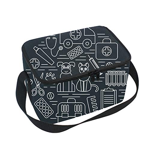 Insulated Lunch Tote Bag Veterinary Pet Health Care Animal Medicine Reusable - Portable Lunchbox -