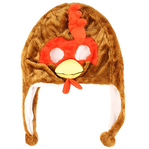 Unisex Winter Furry Warm Animal Eye Hole Face Ski Snow Mask Trapper Trooper Rooster ()