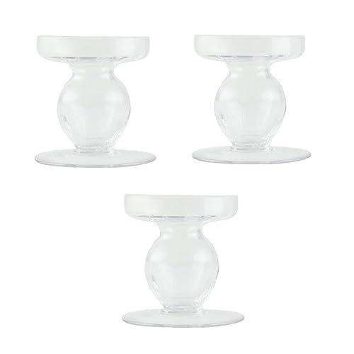 Glass Pillar Candle Holders Amazon Com