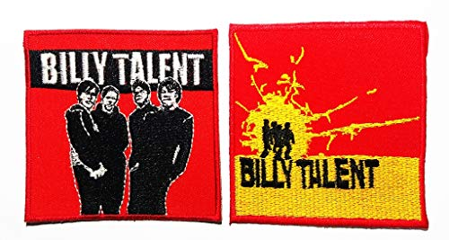 2 Pieces Canadian Rock Punk Rock Alternative Rock Post-Hardcore Pop Punk Ska Punk Music Band Logo Patch Applique for Clothes Great as Happy Birthday Gift