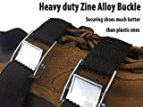 Gonicc Professional Heavy Duty Lawn Aerator Shoes, 3 Adjustable Straps and Zinc Alloy Buckles, Free Extra Spikes, Universal Size that Fits all, For a Greener and Healthier Garden or Yard.