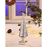 Legion Silver Holiday Decor with Angel Topper and LED Light (PACK OF 3)