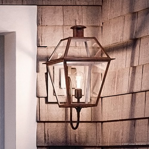Luxury Historic Outdoor Wall Light, Large Size: 20.5