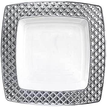 Royalty Settings Diamond Collection Disposable Plastic Plates for Parties for 80 Persons Includes 80 Dinner  sc 1 st  Amazon.com & Amazon.com: Royalty Settings Diamond Collection Disposable Plastic ...