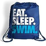 Eat. Sleep. Swim. Cinch Sack | Swimming Bags by ChalkTalk SPORTS | Royal