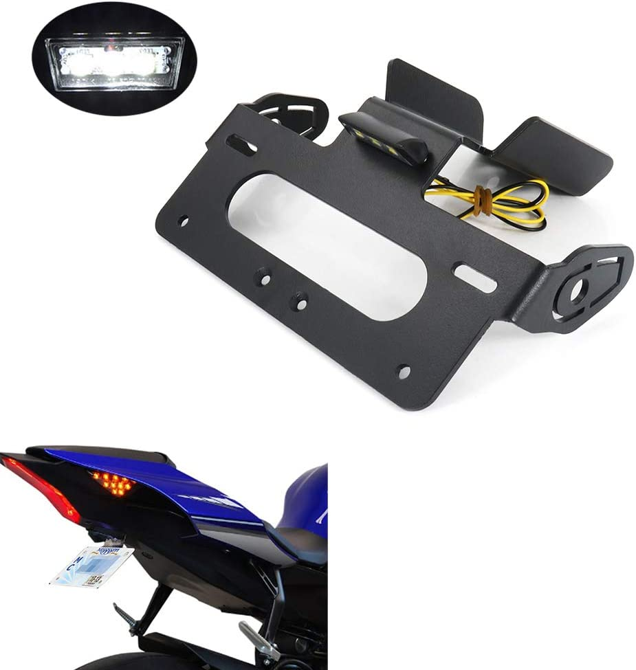 with LED License Plate Light Compatible with OEM//Stock and Aftermarket Turn Signal Xitomer R1 Rear Tail Tidy//Fender Eliminator Kits for YAMAHA YZF R1 2020