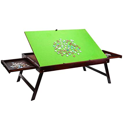 Amazoncom Wooden Jigsaw Tilting Puzzle Table For Adults Kids