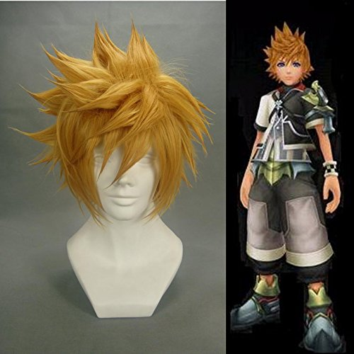 Price comparison product image Weeck Anime Ventus Kingdom Hearts Short Golden Cosplay Wig