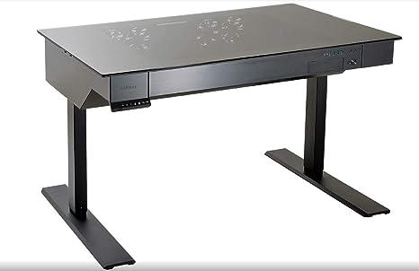 Lian li dk nero metallico scrivania per computer amazon