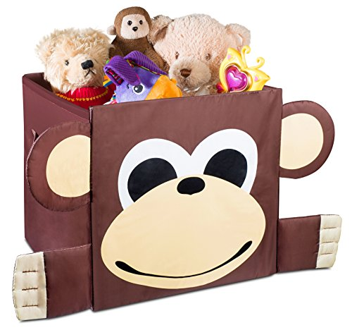 Cute Animal Collapsible Toy Storage Organizer Folding: Kids Foldable Cube Storage Bins
