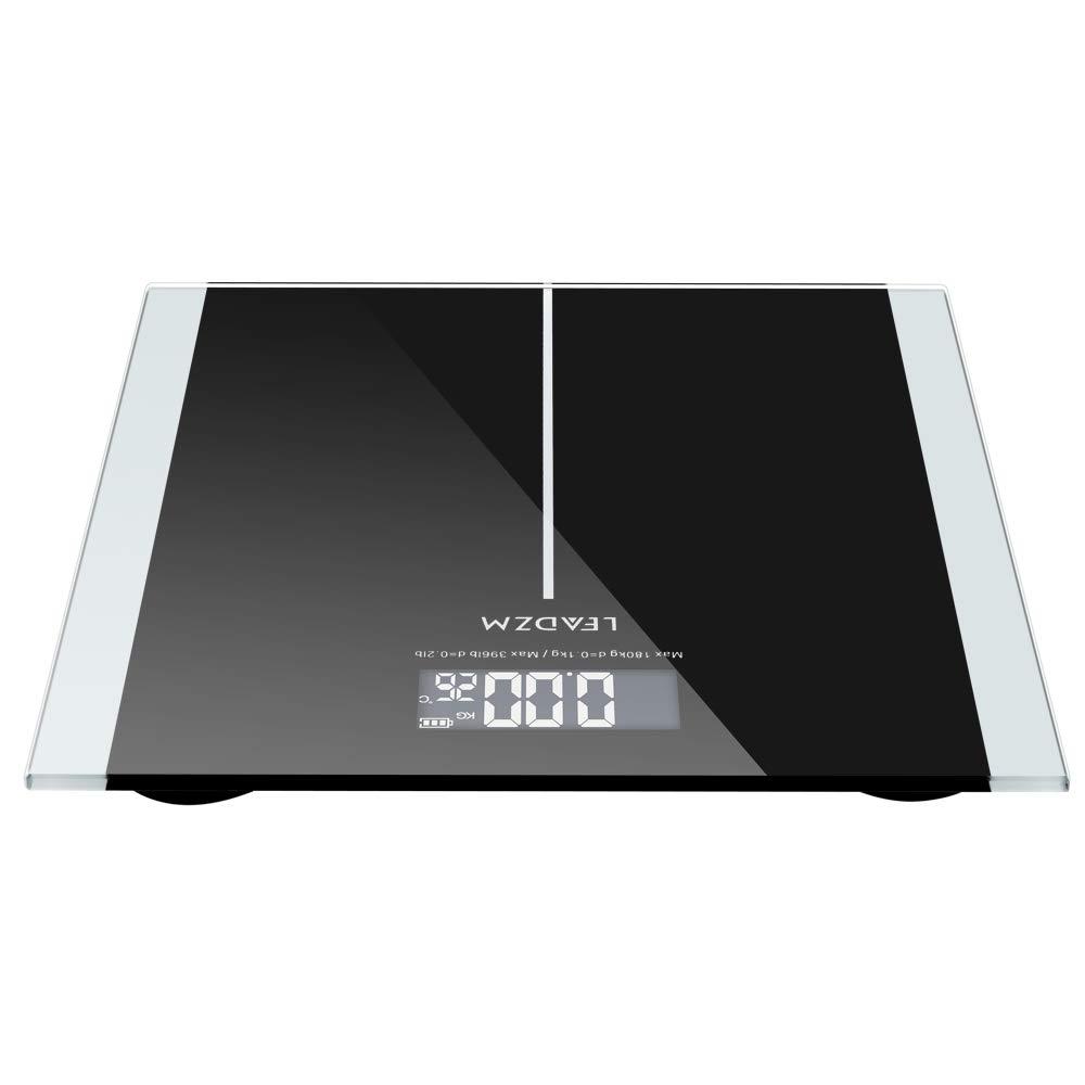 IdealBuy LEADZM 180Kg Slim Waist Pattern Personal Scale Black
