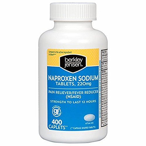 Berkley Jensen Naproxen 220mg Sodium Caplets, 400 ct.