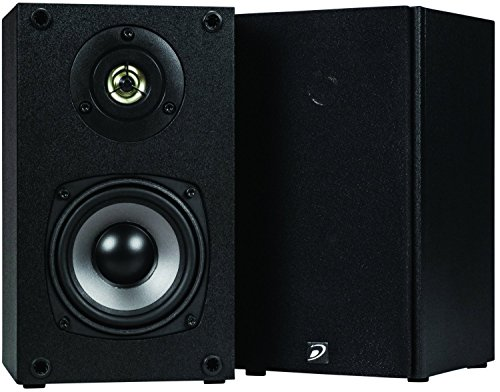 Dayton Audio B452 4 1 2  2 Way Bookshelf Speaker Pair  Black