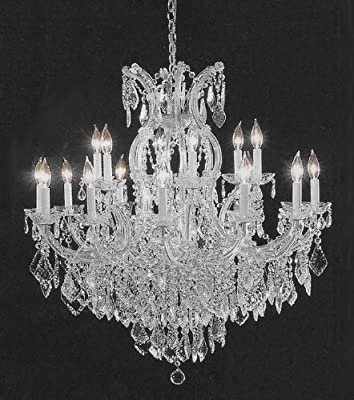 "Chandelier Crystal Lighting Empress Crystal (tm) Chandeliers H38"" W37"""