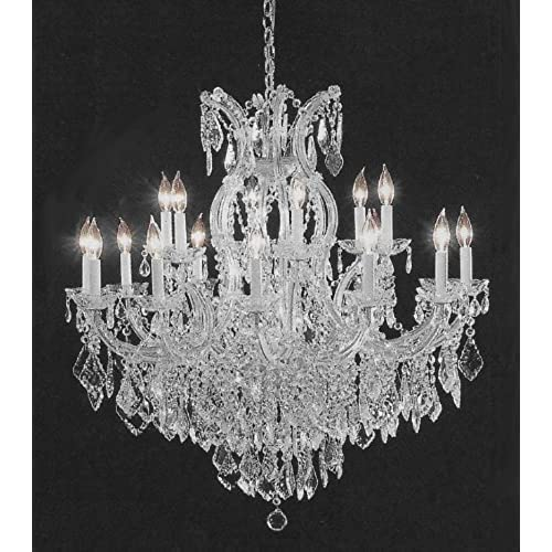Large crystal chandelier amazon chandelier crystal lighting empress crystal tm chandeliers h38 w37 aloadofball Image collections