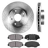 FRONT 282 mm Premium OE 5 Lug [2] Brake Disc Rotors + [4] Ceramic Brake Pads