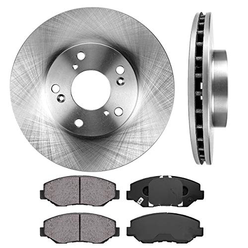 - FRONT 282 mm Premium OE 5 Lug [2] Brake Disc Rotors + [4] Ceramic Brake Pads
