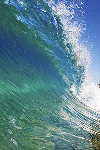 Posterazzi DPI12291987 Blue Ocean Wave View from in the Water Poster Print 11 x 17