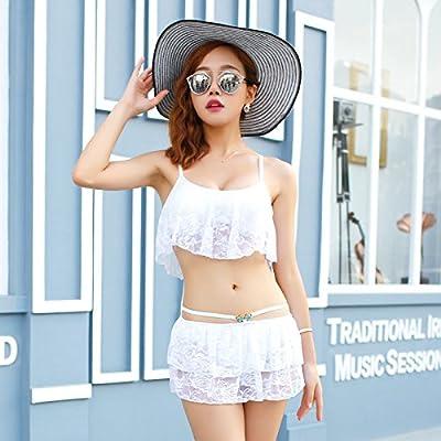 Jupe fendue style est moderne et confortable. _ bikini maillot de bain Style Jupe fendue dentelle