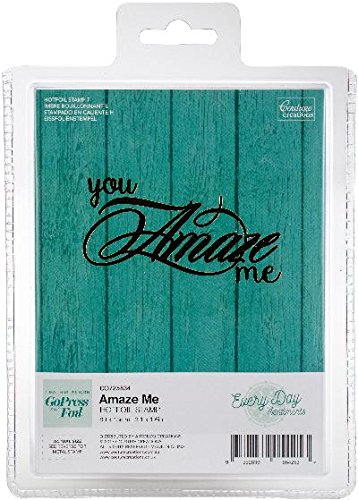 Artdeco Creations CO725834 Couture Creations Every Day Sentiments Hot foil Stamp Amaze Me 3.1''X1.6'', Multi by Artdeco Creations