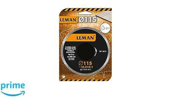 Leman 68115 Disco de diamante cerámica (diámetro 115 mm ...